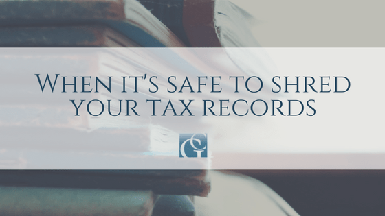 When It's Safe to Shred Your Tax Records