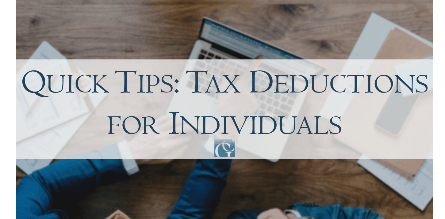 Quick tips about tax deductions for individuals