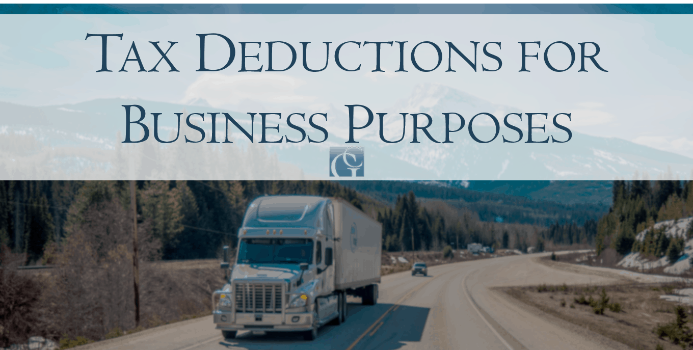 Tax deductions for business purposes