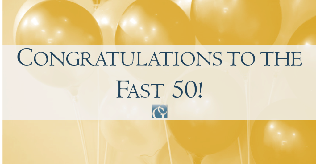 Congratulations to northeast Florida's fast 50