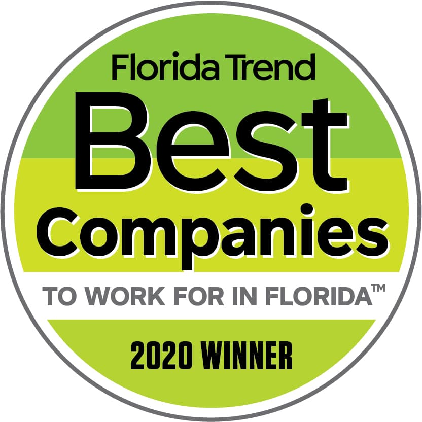 Florida Trend Best Companies to work for in Florida 2020 winner